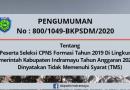 PESERTA SELEKSI CPNS FORMASI Th 2019 TA 2020 YANG DINYATAKAN TMS (2)